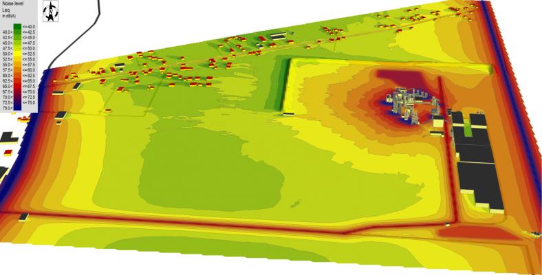 Studiu de zgomot pentru o uzină de prelucrare a lemnului - evaluarea nivelurilor de zgomot în amplasamentul uzinei și în mediul înconjurător