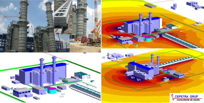 Studiu de zgomot și planuri de măsuri pentru o electrocentrală cu cogenerare
